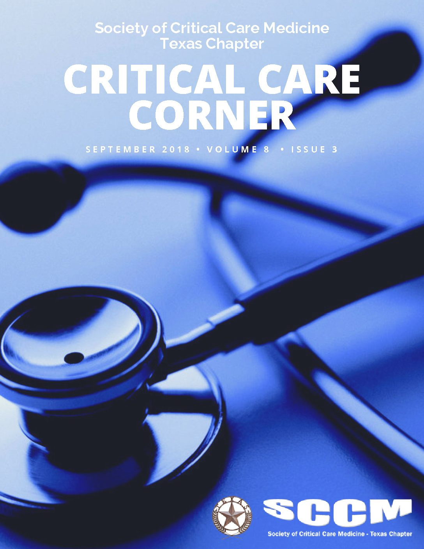 September 2018 SCCM Critical Care Corner - Society of