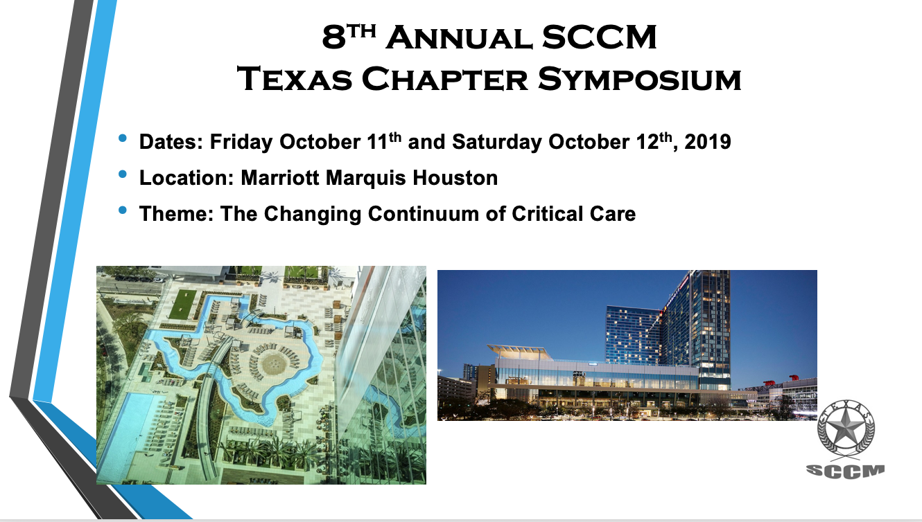 Annual Symposium - Society of Critical Care Medicine - Texas Chapter